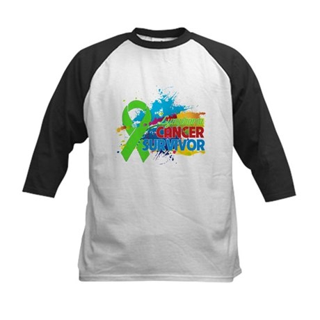 Colorful - Lymphoma Survivor Kids Baseball Jersey