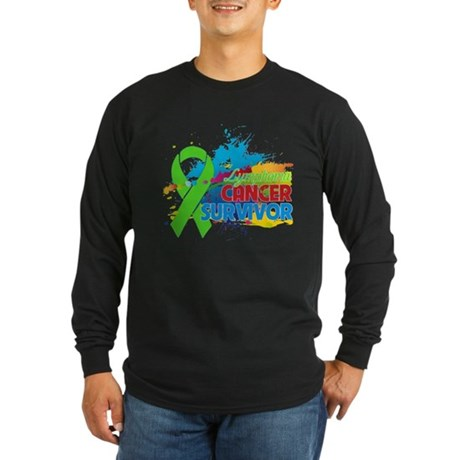 Colorful - Lymphoma Survivor Long Sleeve Dark T-Sh