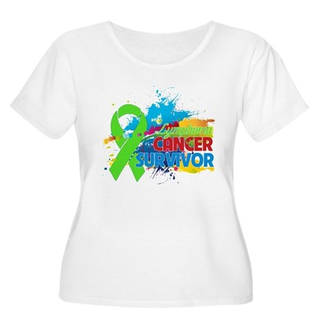 Colorful - Lymphoma Survivor Women's Plus Size Sco