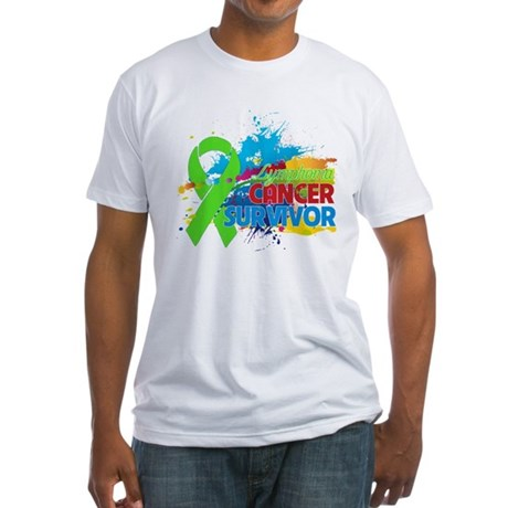Colorful - Lymphoma Survivor Fitted T-Shirt