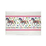 I love ponies Rectangle Magnet (10 pack)