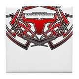 TexMex FM Tribal 1 Red Tile Coaster