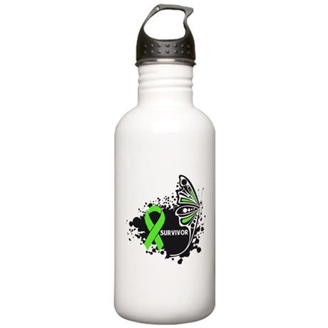 Butterfly Tattoo Lymphoma Stainless Water Bottle 1