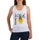 Line Dancing Chick Women's Tank Top