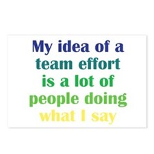 Team Effort Postcards (Package of 8)