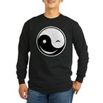 Winky Yin Yang Long Sleeve Dark T-Shirt