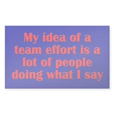 Team Effort Decal
