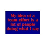 Team Effort Rectangle Magnet (100 pack)