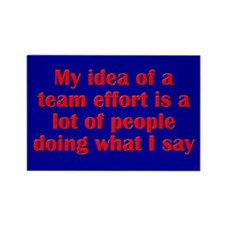 Team Effort Rectangle Magnet (10 pack)