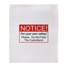 Notice / Custodians Throw Blanket