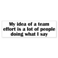 Team Effort Bumper Sticker