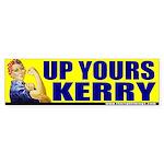 "Rosie Riveter ""Up Yours Kerry"" Bumper Sticker"