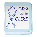 Blue Paws4Cure baby blanket