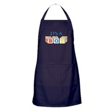 It's A Boy Apron (dark)