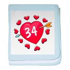 34th Valentine baby blanket