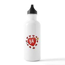 34th Valentine Sports Water Bottle