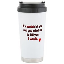 Zombie bite love - Ceramic Travel Mug
