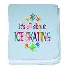 Ice Skating baby blanket