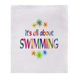 Swimming Throw Blanket