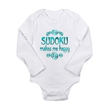 Sudoku Long Sleeve Infant Bodysuit