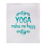 Yoga Happiness Throw Blanket