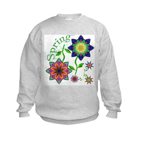Spring Flowers Kids Sweatshirt