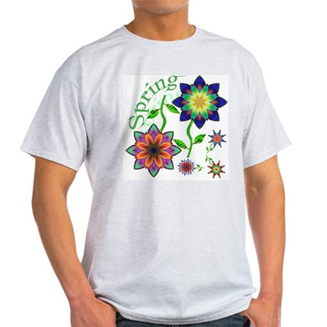Spring Flowers Ash Grey T-Shirt