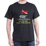 Funny SCUBA Black T-Shirt