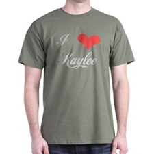 I Love Kaylee Black T-Shirt