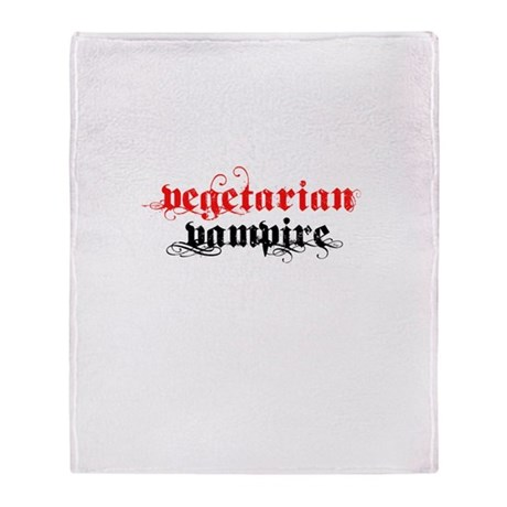 Vegetarian Vampire Throw Blanket
