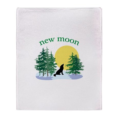 New Moon Howl Throw Blanket