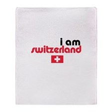 I Am Switzerland Throw Blanket