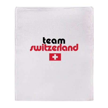 Team Switzerland Throw Blanket