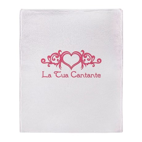 La Tua Cantante Throw Blanket