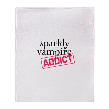 Sparkly Vampire Addict Throw Blanket
