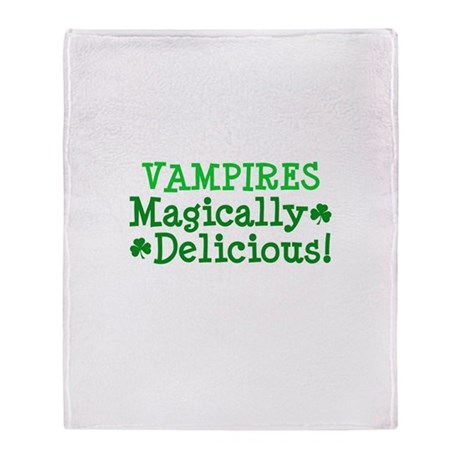 Vampires Magically Delicious Throw Blanket