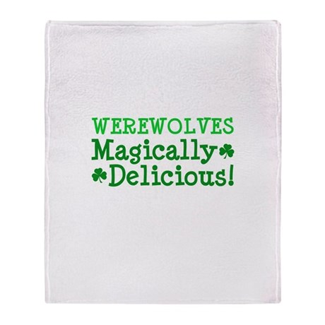 Werewolves Delicious Throw Blanket