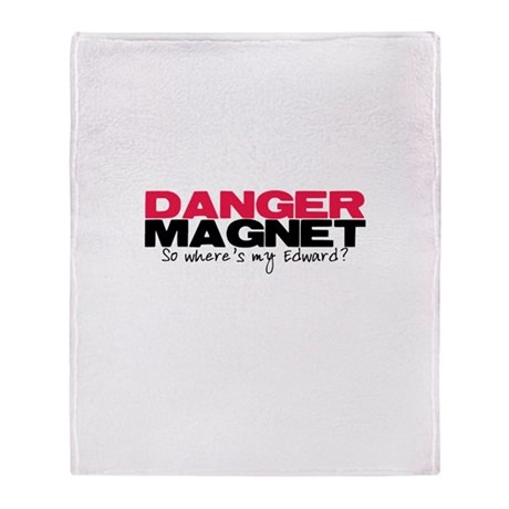 Danger Magnet Edward Throw Blanket