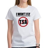 I won't fly [no TSA] Tee