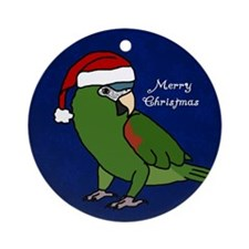 Santa Hahn's Macaw/Noble Macaw Ornament