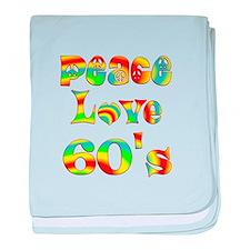 Retro 60's baby blanket