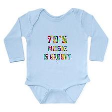70's Music Long Sleeve Infant Bodysuit
