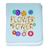 Flower Power baby blanket