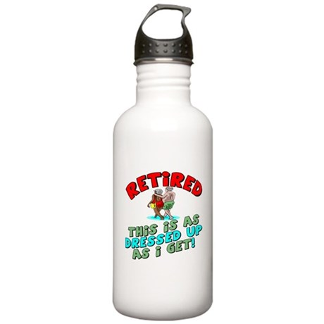 Dressed For Retirement Stainless Water Bottle 1.0L