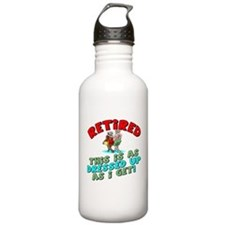 Dressed For Retirement Water Bottle