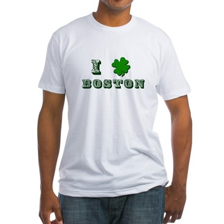St Patricks Boston Fitted T-Shirt