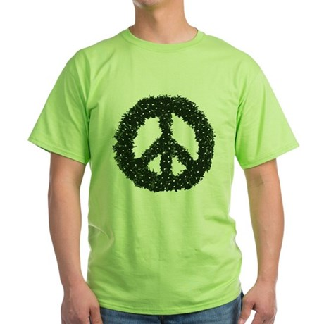 Peace Wreath Green T-Shirt