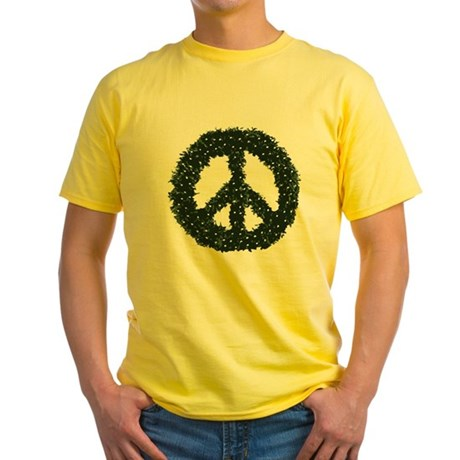 Peace Wreath Yellow T-Shirt