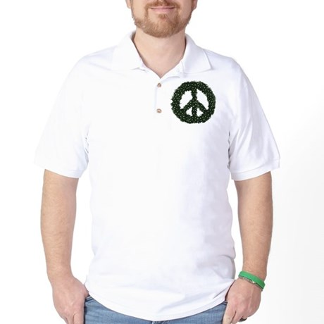 Peace Wreath Golf Shirt