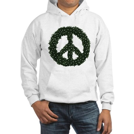 Peace Wreath Hooded Sweatshirt